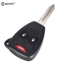 KEYYOU 3 Buttons Remote Car Key Shell Case For Chrysler Jeep Dodge Ram 1500 Caliber Nitro Ram 2500 3500 Key Cover
