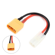 XT90 Male to Mini Tamiya Female Connector Adapter Cable 14AWG 100mm Wire for LiPo FJ88(China)