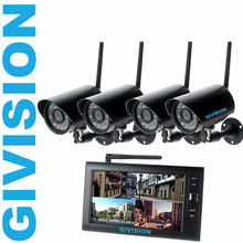 "7"" digital 2.4ghz cctv wireless security camera monitor system outdoor IR SD Card video camera DVR system kit motion detection"