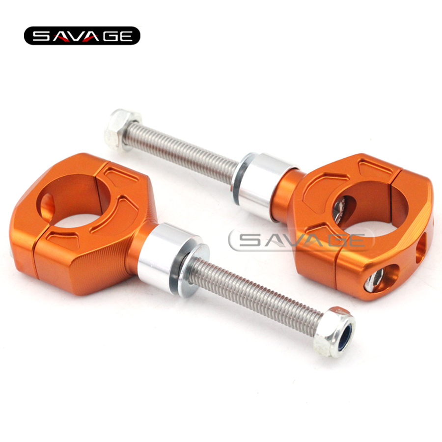 For KTM 990 DUKE/R /Supermoto/R /SMT, 950 Supermoto/R Orange Motorcycle Aluminum Handlebar Bar Clamp Riser Mount Height 40-50mm<br>