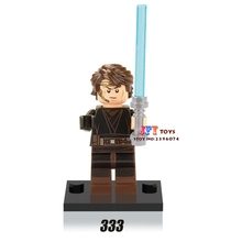 Single star wars super heroes Anakin Skywalker Jedi Head building blocks models bricks toys for children kit brinquedos menino