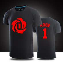 Derrick Rose T-shirts casual Jersey men short sleeve t-shirt Cotton men top shirts Rose Jersey