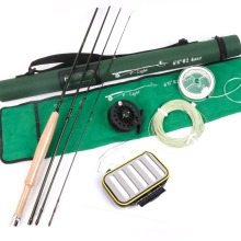 High Quality Fly Fishing Combo Fly Rod With Fly Line And Fishing Box 6.6FT Mid-Fast 2# Super Light Fly Fishing Rod Combo