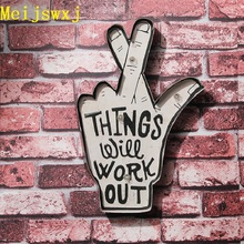 Meijswxj 2017 LED Neon Sign Vintage Lightbox Home Decor Restaurant Bar Cafe Wall Road sign Signage Shabby chic Placas decorativa