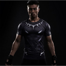 Buy Black Panther 3D Printed T-shirts Men Compression Shirt Captain America Short Sleeve Cosplay Halloween Costume Men Tops Male for $5.29 in AliExpress store