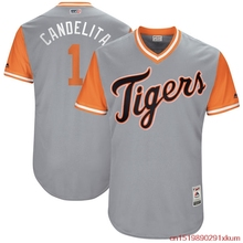 "MLB Men's Detroit Tigers Jose Iglesias ""Candelita"" Baseball Gray 2017 Players Weekend Authentic Jersey(China)"