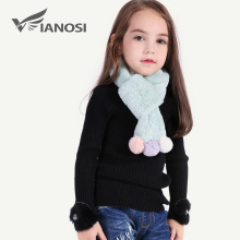 VIANOSI Beautiful Girl Scarf Winter Fashion Warm Faux Fur Scarves for Baby Christmas Gift CH015(China)