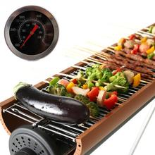 Kitchen Tools BBQ Accessories Stainless Steel Camping BBQ Grill Barbecue Camp Smoker Pit Cooking Thermometer