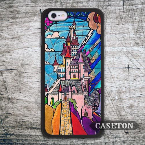 Lovely Castle Beauty And The Beast font b Case b font For font b iPhone b