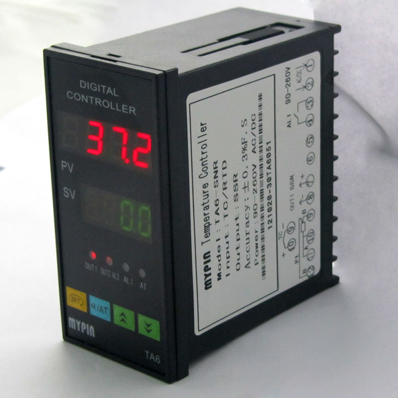 Dual Digital PID TC/RDT Temperature Controller TA6-VRR 0-10V  2 relay ouput<br>