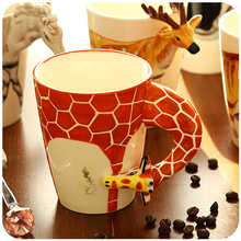 400ml Creative Cute Mug 3D Animal Cup Ceramic Funny Coffee Mugs Milk Tea Cups And Mugs