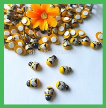 120pcs/lot Wedding Wooden Bee Craft sponge sticker Table Decoration Yellow Color,Weddings Party Home Decoration Scrapbooking(China)
