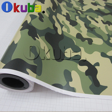Green Forest Camo Vinyl Wrap Camouflage Vinyl Film Air Drain For Vehicle Wraps Size:1.50*3m/5m/15m/Roll