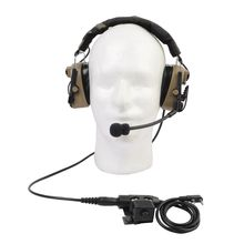 Z-Tactical Element TAC IV Noise Reduction Headset with U94 Version Pin PTT Headphones Outdoor Combat High Tone Quality Earphone(China)
