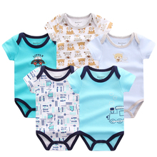 2017 Baby Boy Clothes 5pcs/lot Newborn Baby Rompers Cute Cotton Fashion Baby Clothes Next Baby Clothing Romper Jumpsuits(China)