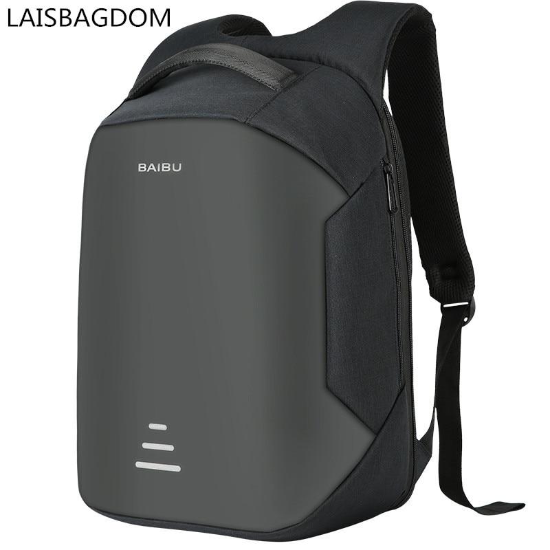 Urban Backpacks for Men Anti-theft Backpack USB Charging Travel Backpacks Fashion Waterproof Computer Bags Men Business Backpack<br>