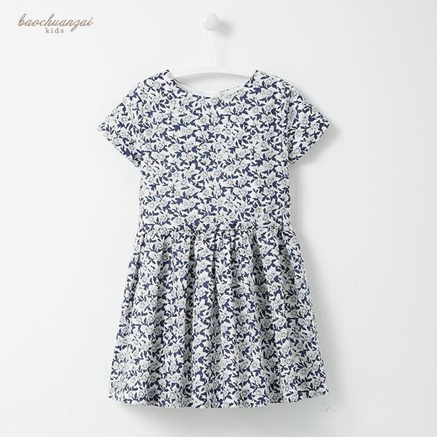 Summer Dresses For Girls Party Dress Kids Costumes For Girls Blue Flower Princess Vetement Vestidos Infantil Children Clothing<br>