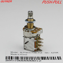 Genuine ALPHA copper shaft PUSH-PULL switch Guitar Bass Potentiometers volume and tone controls  A250K B250K A500K B500K