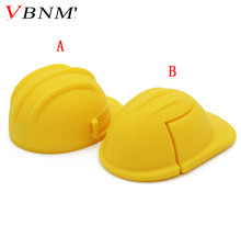 VBNM Helmet pendirve usb flash drive 4GB 8GB 16GB 32GB safety helmet memory stick U disk gift flash hat pen drive(China)