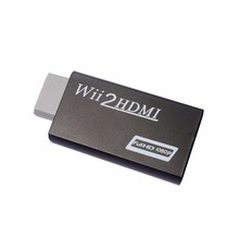 For WII TO HDMI Converter 720P 1080P HD Output Upscaling Adapter black
