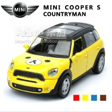 High Simulation Exquisite Model Toys: ShengHui Car Styling MINI COOPER S Countryman Model 1:32 Alloy Car Model Excellent Gifts