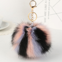 Buy 2017 New Colorful Fake Fur Pom Pom Keychain pompom Fur key chain pompon porte clef Bag Charms Key ring llaveros for $1.47 in AliExpress store