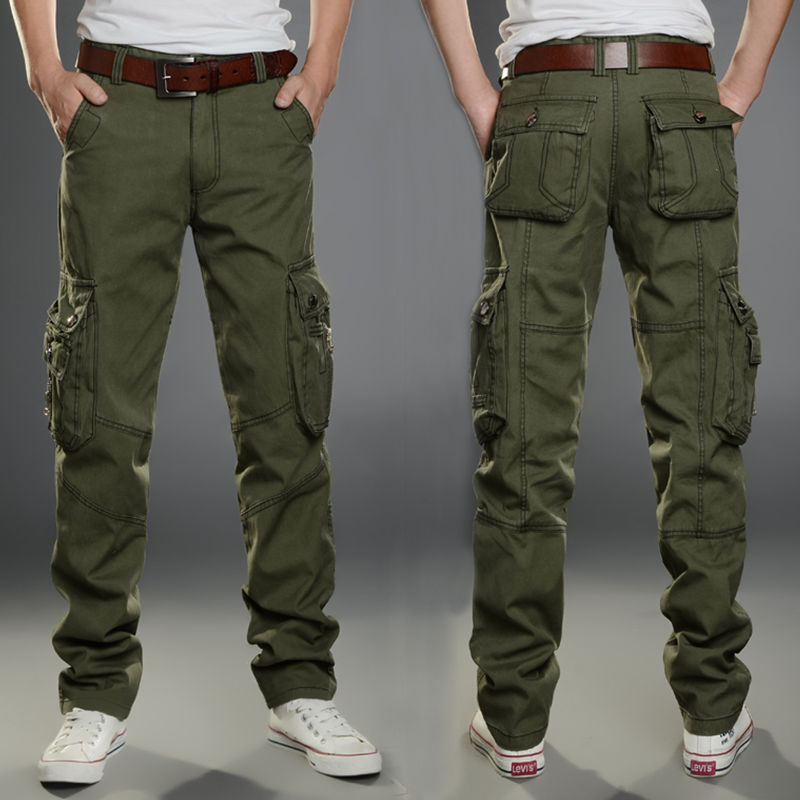 Trousers Cargo-Pants SWAT Stretch Many-Pockets Combat Army Men Plus-Size Cotton Casual title=