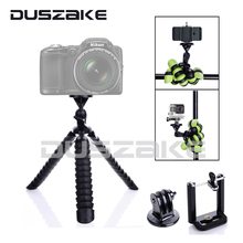 "11"" Flexible Gorillapod Mini Mobile Tripod Stand Octopus Tripod for iPhone GoPro hero 5 Canon Nikon Sony SJCAM Samsung Huawei"