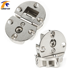 2pcs Cabinet door flap hidden Hinges micircle hinges Furniture Hardware High Quality(China)