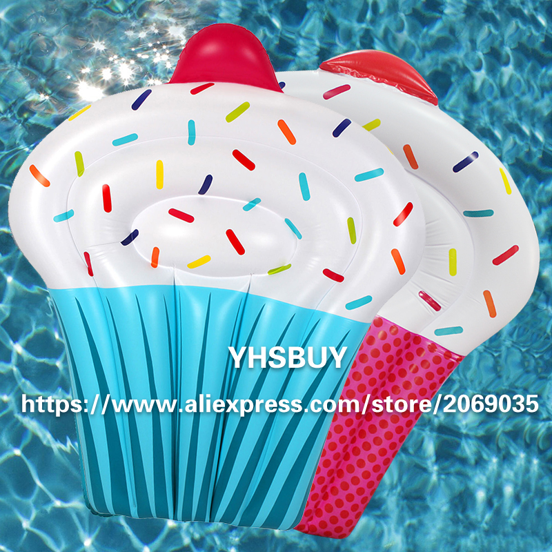 Pink Blue Giant Inflatable Cake Pool Float 2017 New Swimming Ring For Adults Children Water Chairs Holiday Fun Party Toy Piscina<br><br>Aliexpress