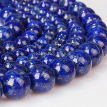 "Wholesale 15"" 4-14mm quality genuine natural stone Galaxy Stars lapis round Loose Beads  fashion jewelry making"