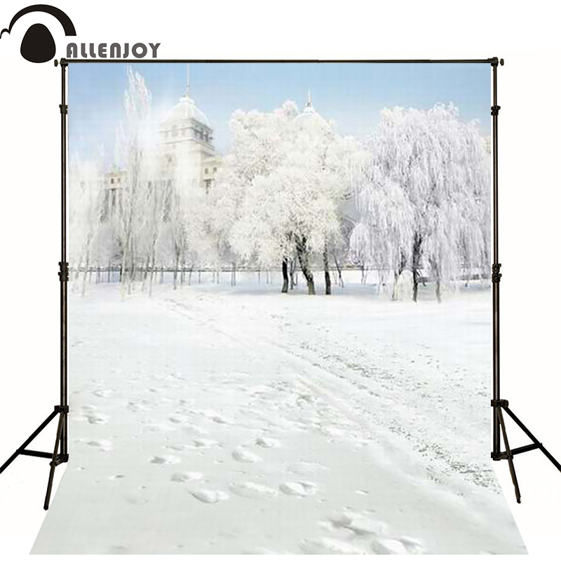 Christmas photocall backdrop rolled 7FTx5Ft photo studio floor Snow footprint castle Christmas backgrounds<br><br>Aliexpress