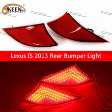 OKEEN For Lexus IS  Led  Tail Lights LED Rear Turn Signal Cars Stop Rear Tail Indicator Light Lamp 2 pcs/lot  drl Car Styling