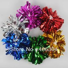 Free Shipping.50G Cheering pompom,Metallic Pom Pom,Cheerleading products,many colors for your choose