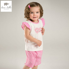 DB5192 dave bella summer baby girls fashion clothing sets kids stylish clothing sets toddle cloth kids sets baby fancy clothes