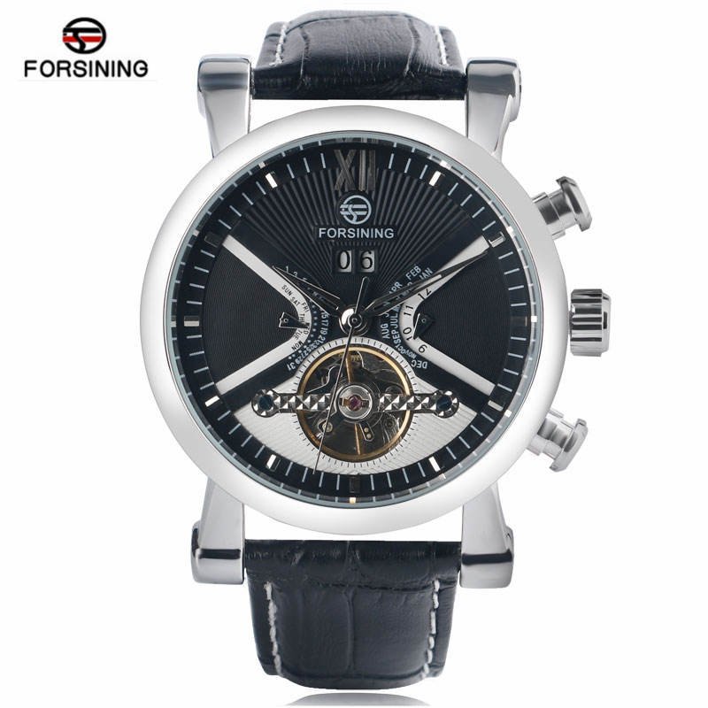 FORSINING Original Leather Band Relogio Masculinos Top Brand Men Mechanical Watches Luxury Automatic Wristwatch 2017 New<br>