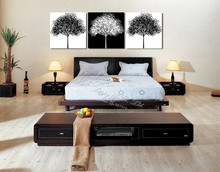 3 Piece Free Shipping Hot Sell Home Decorative  Art canvas white and black  tree artwork  art   Canvas Prints Abstract painting
