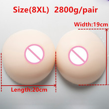 Buy White Skin Color Boobs 2800g/pair Big Breast Forms Silicone Fake Boobs Tits Crossdresser Drag Queen Shemale Transgender