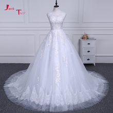 Buy Jark Tozr 100% Real Photo China Bridal Gowns Pearls Sequin Appliques Lace Illusion A-line Wedding Dresses 2018 Vestido Longo for $186.84 in AliExpress store
