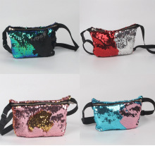 MLITDIS Mermaid Sequin Quilts Storage Bag Reversible Magical Color Changing Casual Travel Bags Clothes Luggage Storage Organizer