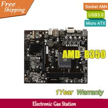 Original JW Desktop Motherboard B350 Socket AM4 DDR4 M.2 USB3.0 SATA III PCI-E 3.0 VGA DVI HDMI Micro ATX(China)
