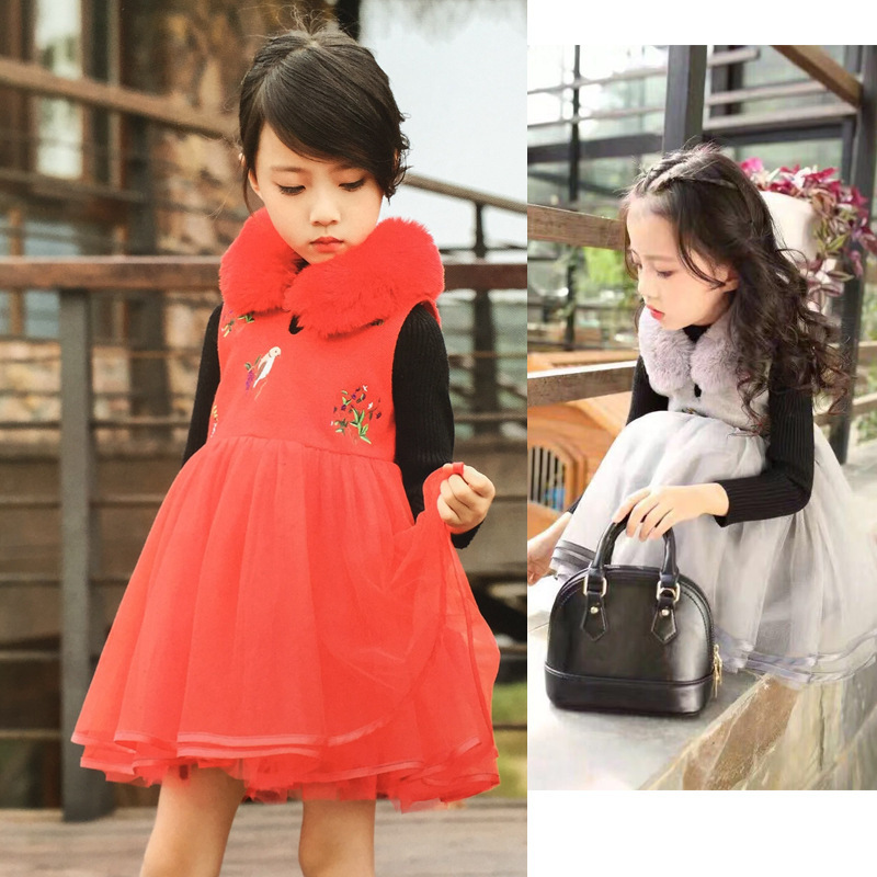 Special 2017 Winter Cheongsam Flower Fashion Girls Dress For Princess Special Christmas New Year Holiday Party Wedding Toddler <br><br>Aliexpress