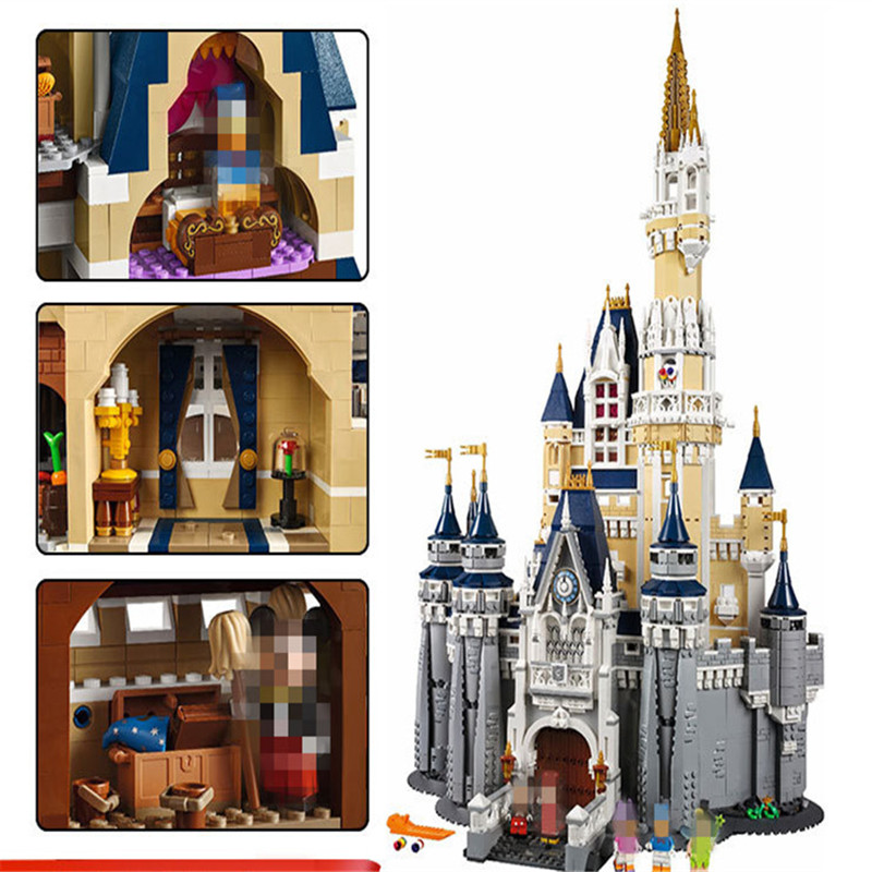 Building Blocks City Street 16008 Cinderella Princess Castle Led Light Set For Legoing 71040 Toys Creator City Street Lighting (10)
