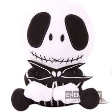 "Cartoon The Nightmare Before Christmas cool Jack Skellington 7"" stuffed toy lovely soft plush doll Sitting great gift"