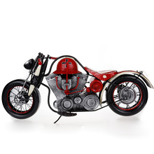 Retro Tinplate Metal Motocross Models Collection Classic Handmade Arts And Crafts Dirt Bike Model