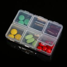 Pop Case Pill Box Medicine Health Medical Seal Chic Mini Drug Storage Hot 6 Slots Portable