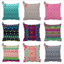 Pink Gray Square Dot Bloom Diamond Tribal Ethnic Print Car Decorative Throw Pillowcase Pillow Case Cushion Cover Sofa Home Decor