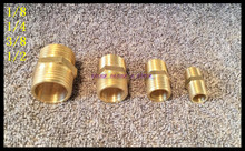 "5Pcs/Lot 3/8"" BSPP Connection Straight Male Pipe Brass Adapter Coupler Connector Brand New(China)"