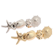 Starfish Conch Shell Ocean Style Gold/Silver Tone Hairband Head Clip Hair Accessories Jewelry  CF143