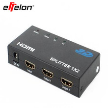 effelon 3D HDMI Splitter 1X2 split one HDMI input to 2 HDMI output with power supply & Retail Box(China)